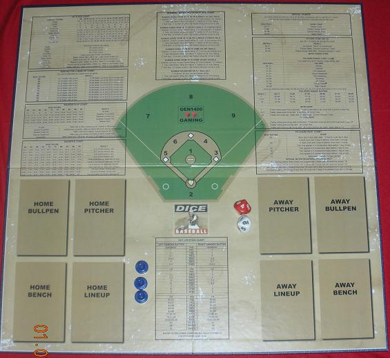 Dice Baseball Game Board