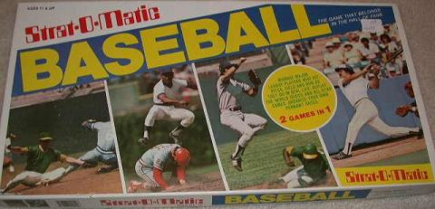 Strat O Matic Baseball Board Game