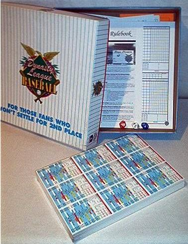 Dynasty League Baseball Boardgame